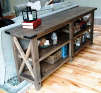 Rustic Buffet Custom made to your size & requirements.