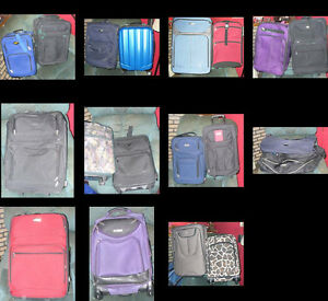 different size suitcases and airline travel luggage.over 30