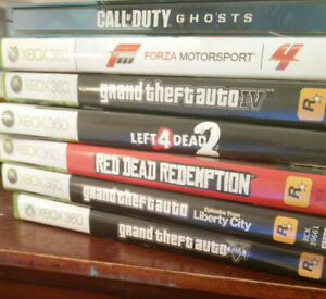 XBOX 360, 7 games (GTA 4,5, ep, Liberty City, Red Dead, L4D,etc)
