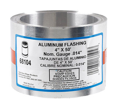 Amerimax Aluminum Flashing Silver 4 In. H X 50 Ft. L X 4 In. W Roof Flashing