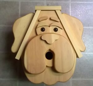 LARGE BULLDOG HEAD BIRDHOUSE