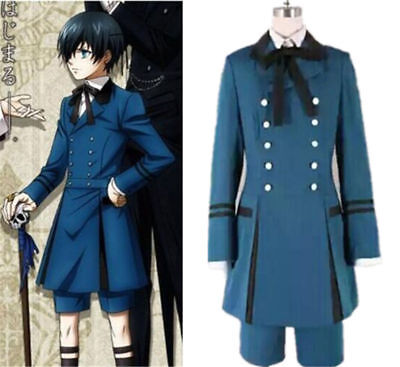 Black Butler II 2 Ciel Phantomhive Cosplay Kostüm Anime Manga Uniform Mantel Hot