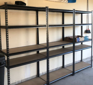 4 metal shelves one year old