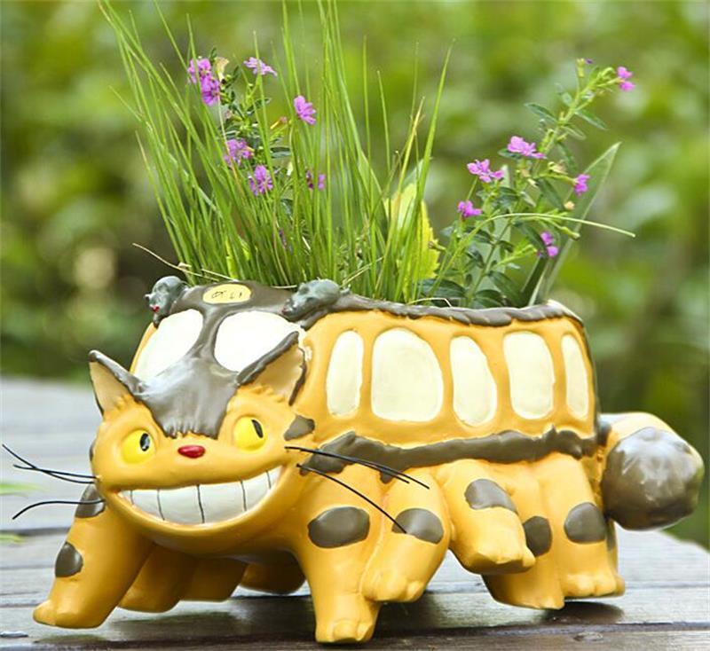 Miyazaki Hayao My neighbor totoro MINI Totoro bus flowerpot figurine figure Gift