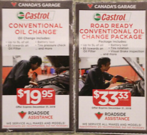 Oil change coupons Canadian Tire