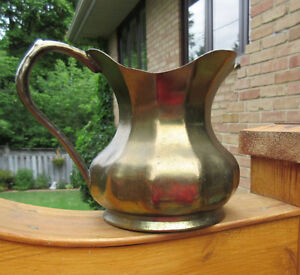 Vintage Brass Pitcher / Vase - Made in Italy