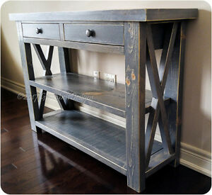 RECLAIMED WOOD RUSTIC ENTRY/SOFA/CONSOLE/KITCHEN ISLAND TABLE