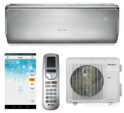 GREE 12000 BTU Split Air Conditioner Heat Pump SEER 23 ENERG