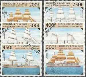 Timbres Bateaux Guinée 1117/22 o lot 473 - France - Timbres oblitérés en série complte - France