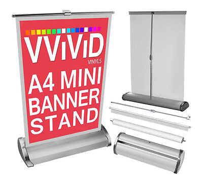 Mini Retractable Table A4 Counter Banner Tradeshow Stand Pop-up Kit 8.5x 12