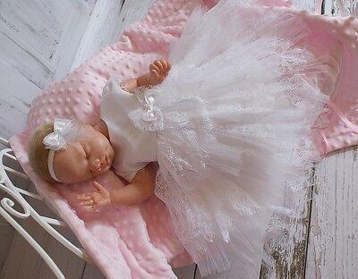 (Nr.0le55) Taufkleid Festkleid Taufgewand Kleid Taufe Hochzeit Babykleid neu