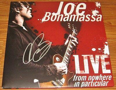 JOE BONAMASSA SIGNED LIVE FROM NOWHERE LP VINYL W/ COA ROCK GUITAR PLAYER