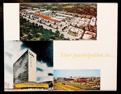 1960's Mid-Century Modern ARCHITECT CARLOS SCHOEPPL Advertising Brochure POSTER