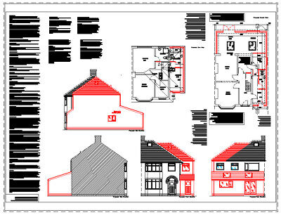 **SALE** TWO STOREY EXTENSION CAD PLANS - 2017 PLANNING & BUILDING REGULATIONS