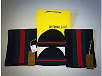Gucci Hat & Scarf Sets 'NEW' - Black & Navy
