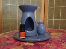 Inessence blue ceramic oil burning set (he243) Concord Canada Bay Area Preview
