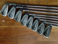 Set of golf clubs, irons and woods