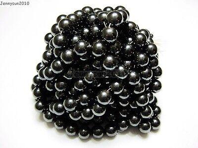 Magnetic Hematite 8mm Round Beads (Natural MAGNETIC Hematite Gemstones Round Beads 16'' 4mm 6mm 8mm 10mm 12mm)