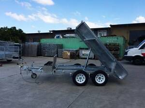 9x5 Hydraulic Tipper Trailer with 900mm Cage Underwood Logan Area Preview
