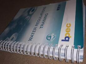 BPEC Water regulations course assessment