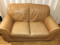 Real leather 2 seaters sofa