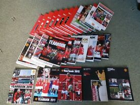 Manchester United Year Books 1987 to 2014