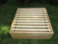 Super box and frames for national beehive