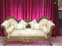 Gold Throne Chair/ Wedding Sofa for Hire £150