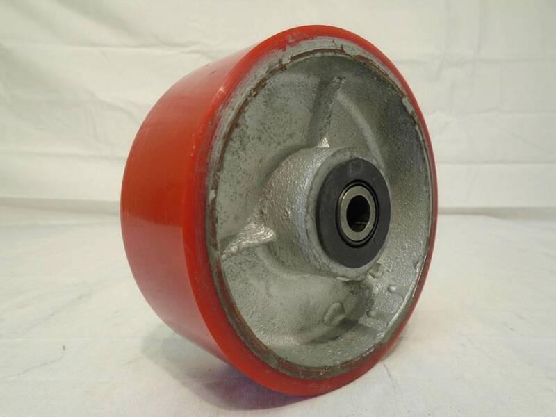 """5"""" x 2"""" Polyurethane Caster Wheel on Steel Hub w/ Roller Brg 1000lb FREE Bushing"""
