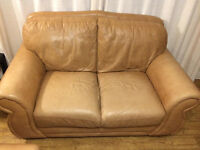 Real leather two seaters sofa