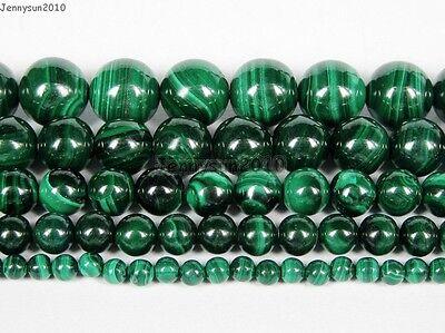 Natural Malachite Gemstone Round Beads 15.5'' Strand 4mm 6mm 8mm 10mm 12mm  Malachite 8mm Round Beads