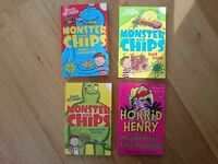 Monster & Chips bundle by D O'Connell. Horrid Henry & the Mega-Mean Time Machine by F. Simon. Used.