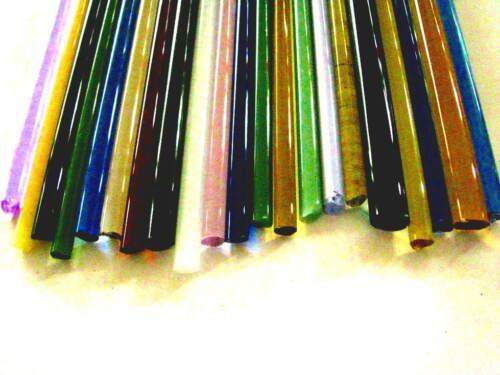 Devardi Glass COE 33 Boro 1 lb Assorted Borosilicate Rods, Lampworking, Blowing