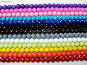 Quality-Czech-Opaque-Coated-Glass-Pearl-Round-Beads-16-8mm-10mm-12mm-14mm-16mm