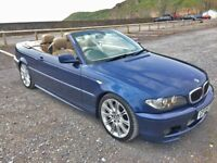 2005 BMW 330D M SPORT CONVERTIBLE DIESEL CREAM LEATHER SEATS IN BLUE RARE!