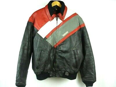 Vintage Hein Gericke YAMAHA Leather Motorcycle Jacket Quilted Lining sz XXL for sale  Shipping to India