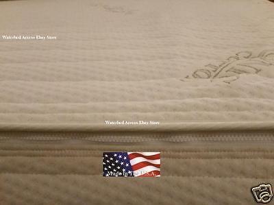 Twin Waterbed Mattress - Organic Cotton Zipper Top Cover Twin or Single Size Softside Waterbed Mattress