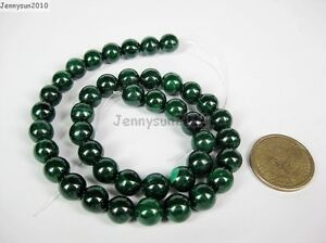 Malachite Gemstone Round Loose Spacer Beads 15.5'' Strand 4mm 6mm 8mm 10mm 12mm