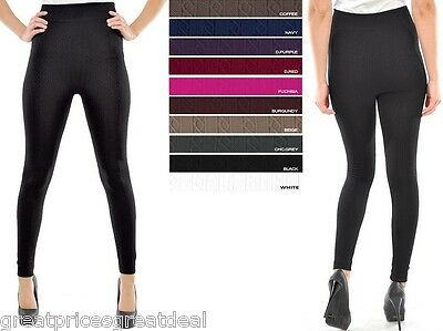 Cable Womens Tights - 1 or 3 WOMENS CABLE KNIT FOOTLESS FLEECE Legging Tight TX200 Sofra Fits S M L XL
