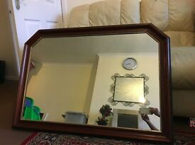 Over the fireplace mirror : large size, in immaculate condition, 104 cm X 74 cm