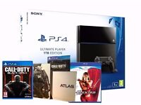 1TB PS4 ( Boxed ) with Controler, TWO Games & Free Blu Ray movie
