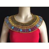 New Ancient Egyptian Queen Cleopatra Beaded Collar Necklace Costume halloween
