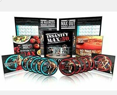 NEW Beachbody Insanity Max30 10 DVDs Workout Base Kit
