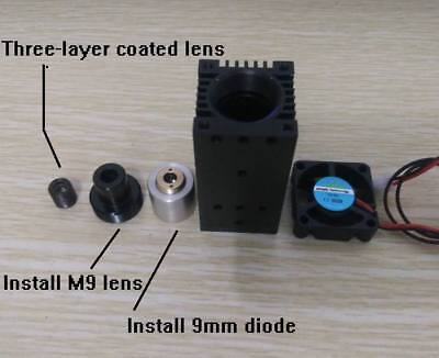 9mm Laser Diode Mounts For 445nm Diode Housing Adjustable With Coated Glass Lens