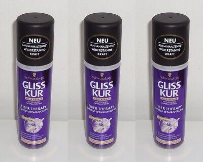 (1L=11,50) 3x Gliss Kur Fiber Therapy EXPRESS-REPAIR-SPÜLUNG , 3x200ml