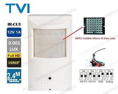 HD-TVI Spy Motion Detector Infrared IR 2MP 1080p HD 3.7mm Nanny Camera Spy Camera Motion Detector
