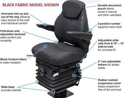 Fits John Deere 310 410 710 Backhoe Loader Suspension Seat Fabric Or Vinyl