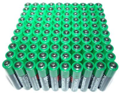 100 x AA Zinc Extra Heavy Duty Battery Powercell 1.5v Batteries Bulk Joblot ()