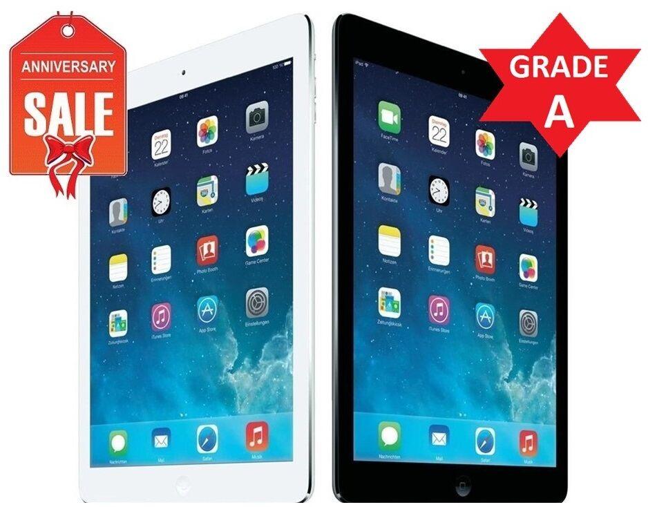 Apple iPad Air 1st Wi-Fi I 16GB 32GB 64GB or 128GB I GRAY SILVER - GRADE A (R)