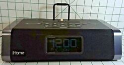 iHome IDL45 Dual Charging Stereo FM Clock Radio With Lightning Dock & USB